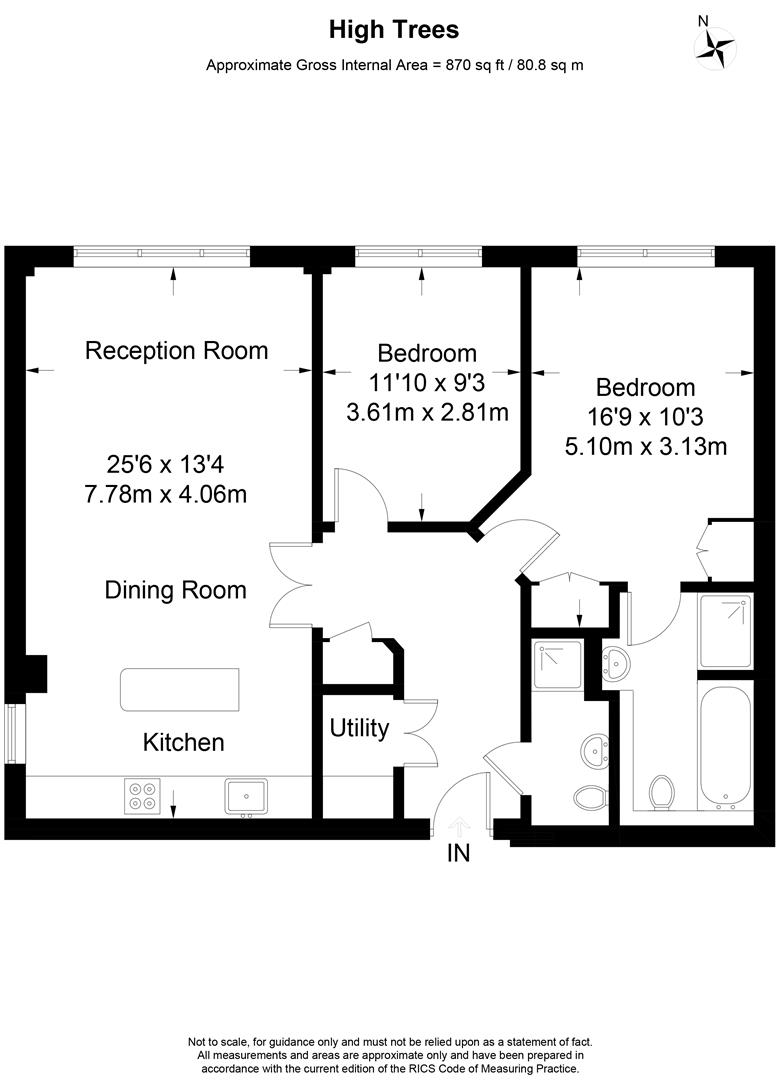 Floorplan for Hightrees, Queensmere Road, Wimbledon
